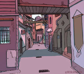 Street Study 2 by Teslaverian