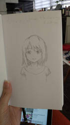 Anime female face - exercise by Kanchuk