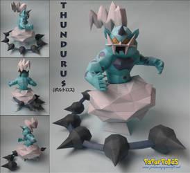 Thundurus Papercraft by Olber-Correa
