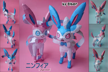 Sylveon Papercraft by Olber-Correa