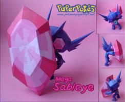 M-Sableye Papercraftt by Olber-Correa