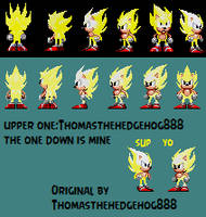 My edit of Thomasthehedgehog888's super sonic spin by GFTheplayer