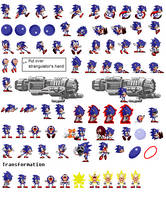 More updated Sonic sprites *Cover coming soon* by GFTheplayer