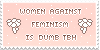 women against feminism stamp by fairypaws