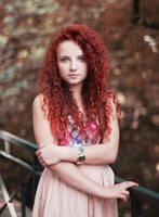 redhead girl by delskooo