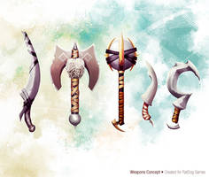 Norse Weapons Concept by slipled
