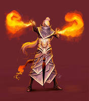 Laruna Fire Sorcerer by slipled