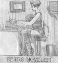 Retro novelist by johnnyola2000