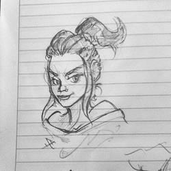 A sketchy portrait by alp-d
