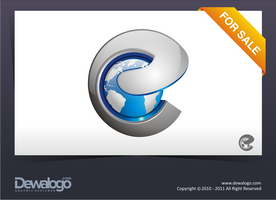 3d Logo 2 - E worlds by dewaaaa