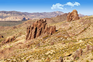 View of the Superstition Wilderness by sapoguapo