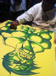 drawing the Hulk by samax