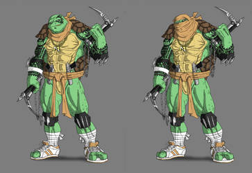 Evil Michelangelo by Ronniesolano
