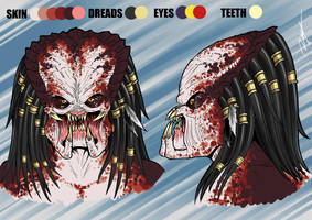 Commission - OC Predator Detailed Head by Ronniesolano