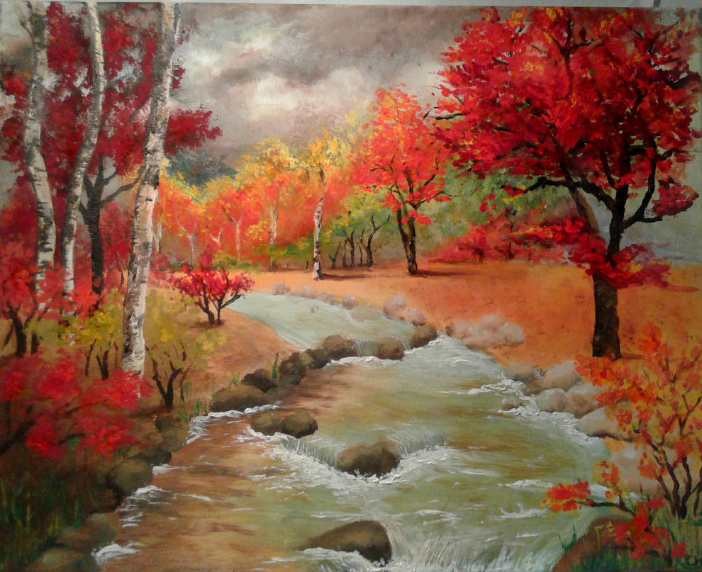 Autumn landscape by Chaaaarlotjeeee