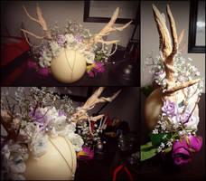 Deer headpiece by Chaaaarlotjeeee