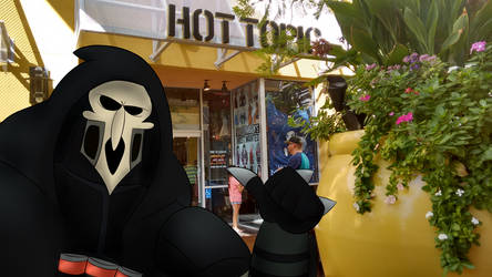 Reaper at Hot Topic by Weretoons101