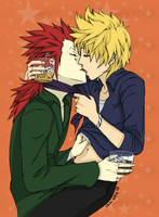 AkuRoku: I Kissed a Boy by SakuraBlossom4