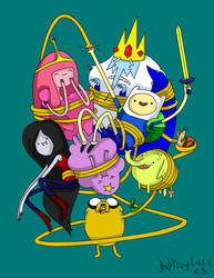 Adventure Time Gang by SakuraBlossom4