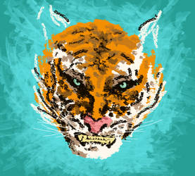 Tiger by aLeXa-on-fire
