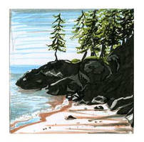 Shore of Lake Superior by Izar