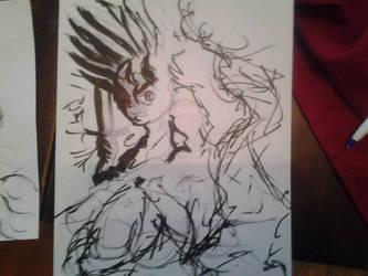 Hiei pen sketch by Josh99912