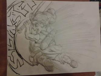 Young Link Smash bros melee sketch by Josh99912