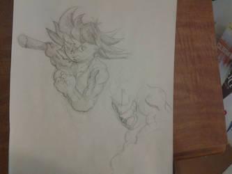 Kid Goku sketch by Josh99912