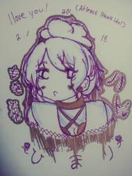 Himari Sketch by artist-always