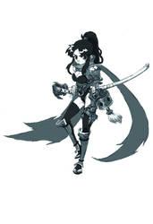 Lady warrior by milkyliu