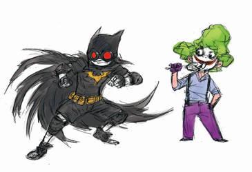 Batman and Joker Kids by milkyliu