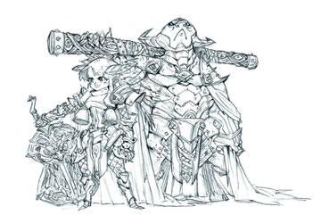Princess Iron-Fan and Bull Demon King by milkyliu