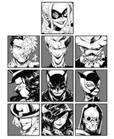Batman with his friends by milkyliu