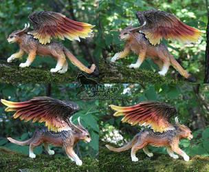 Bronze winged cat SALE! by WolfberryCrafts