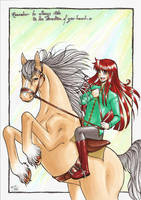 Beautiful riding vampire by LunaJMS