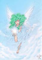 WIP Cherubim in the sky by LunaJMS