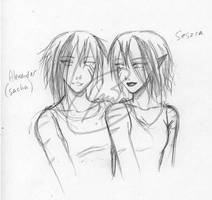 Sacha and Seszca by LunaJMS