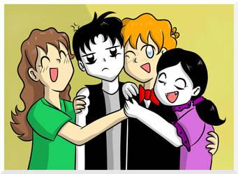 Group hug by StrixVanAllen