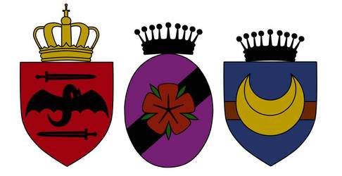Some vampire heraldry by StrixVanAllen