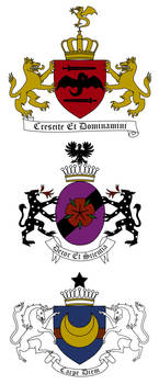 Complete coats of arms for the vampire families by StrixVanAllen