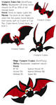 Fakemon - Vampire Zubat line by StrixVanAllen
