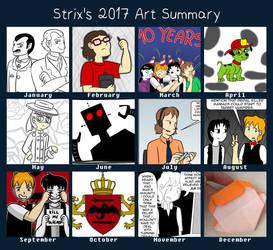 2017 Art Summary by StrixVanAllen