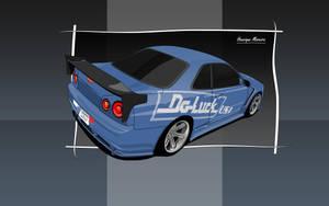Nissan Skyline GT-R R34 by Henrique-Moreira