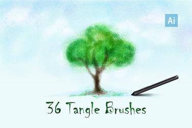 Tangle Brushes for Adobe Illustrator by le-genda