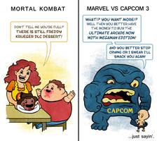 Mortal Kombat vs MvC 3 by mapacheanepicstory