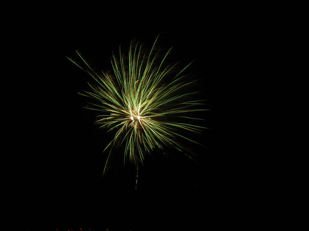 Green Fireworks by Calidris555
