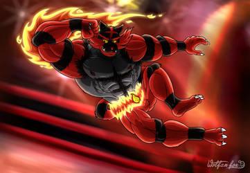 Incineroar Is On FIRE! by Wolfan-foxD