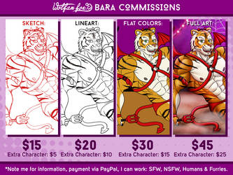 Bara Commission Price List by Wolfan-foxD