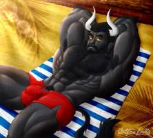 Rontaro on the Heat by Wolfan-foxD
