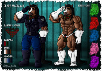Clyde MacBlair [Ref Pic Commission] by Wolfan-foxD